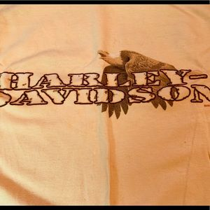 Harley Davidson tee butter yellow  men's xl
